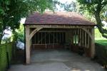 Double oak garage