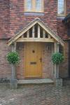 Oak front door and bespoke porch