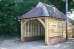 Single oak garage